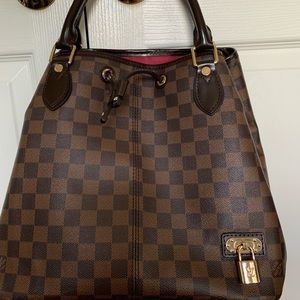 Louis Vuitton Large Checkered Purse